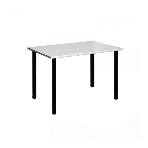 Computer Desk Office Dining Table Workstation Black Legs Gray Top 120x80cm