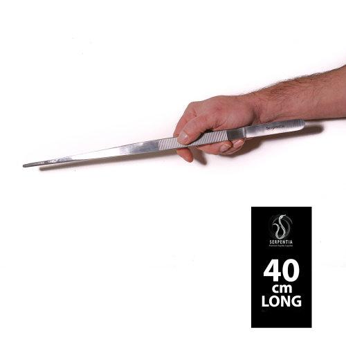 Serpentia Reptile Steel Feeding Tweezers - 40cm Long