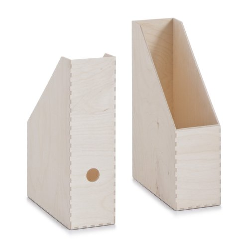 Zeller Storage Box Multi-Colour Bamboo 40 x 30 x 14 cm