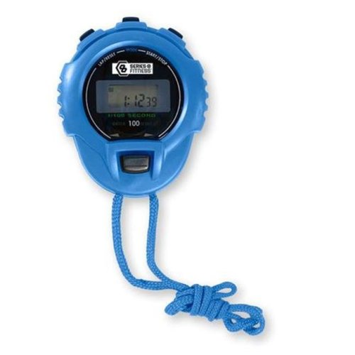 GQ Brands 9815SWB Pure Fitness Stop Watch, Blue