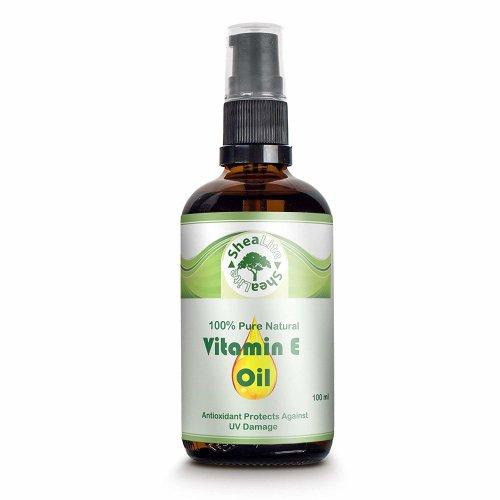 SheaLite Vitamin E Oil 100% Natural Pure for Face, Skin and Hair