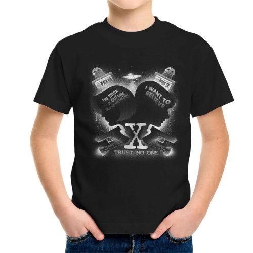 X Files Trust No One Kid's T-Shirt