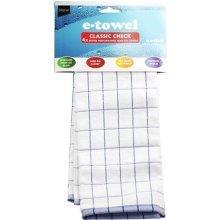 E-cloth Classic Check Blue E Towel