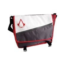 Assassins Creed Red Core Crest Emblem Logo Messenger Bag - Grey (MB070306ASC)
