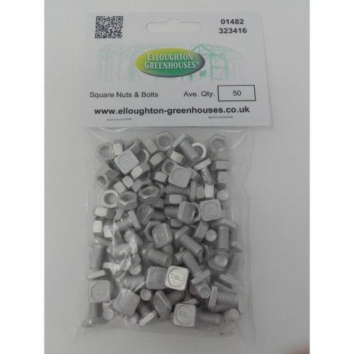 50 High Tensile Aluminium Greenhouse Nuts & Bolts Genuine Elite Greenhouses Parts