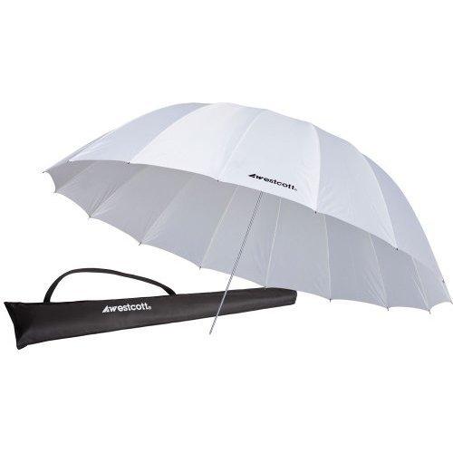 Westcott 4632 7 Feet White Diffusion Parabolic Umbrella