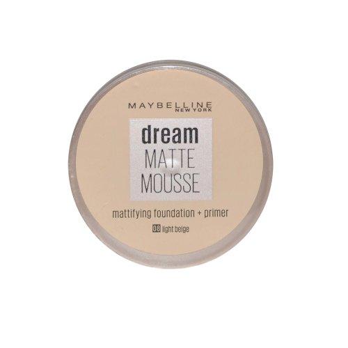 Maybelline Dream Matte Mousse Mattifying Foundation + Primer 18ml Light Beige #08