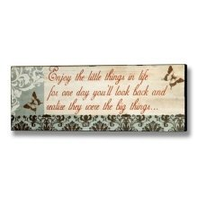 Shabby Chic Enjoy The Little Things In Life Novelty Fun Wall Plaque