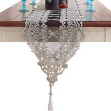 Lace Table Runner Piano Cover Cloth Wedding Table Decor-Black