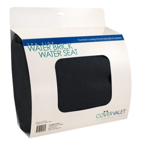 Cover Valet Water Brick Water Seat - Comfy Booster Seat for Spa and Hot Tub - Black