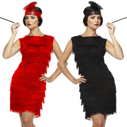 1920's Flapper Lady Fancy Dress Costume