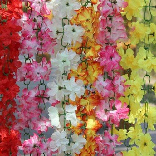 2m Artificial Silk Azalea Flowers Vine Plants Garland Wedding Home Decor