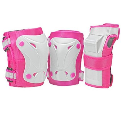 Cruiser 3000 Tripack Pink & Grey Protective Gear, Youth