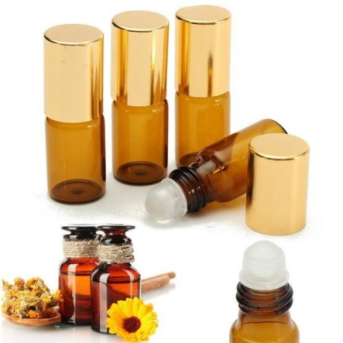 Mini Size Bottle 3ML Essential Oil Amber Glass Vials with Orifice and Cap
