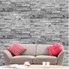 Hyfive - Wallpaper 3D Brick Effect - Natural - Grey Stone Colour - 10 x 0.53 m