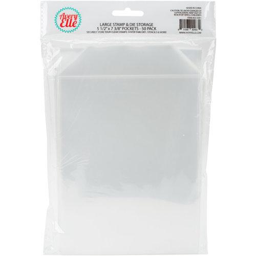 "Avery Elle Stamp & Die Storage Pockets 50/Pkg-Large 5.5""X7.25"""