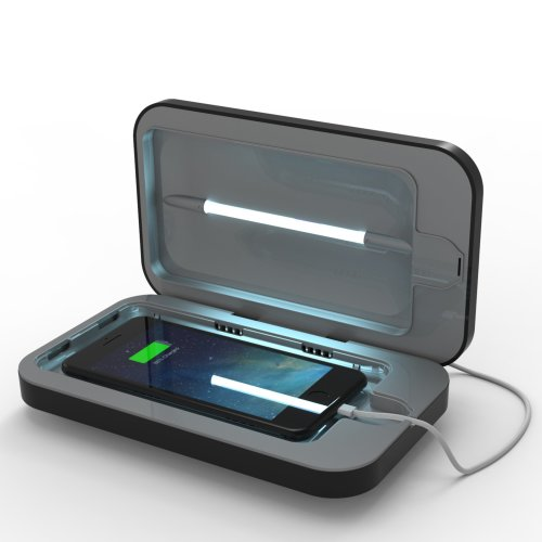 PhoneSoap 3 UV Cell Phone Sanitizer and Dual Universal Cell Phone Charger | Patented and Clinically Proven UV Light Sanitizer | Cleans and Charges...