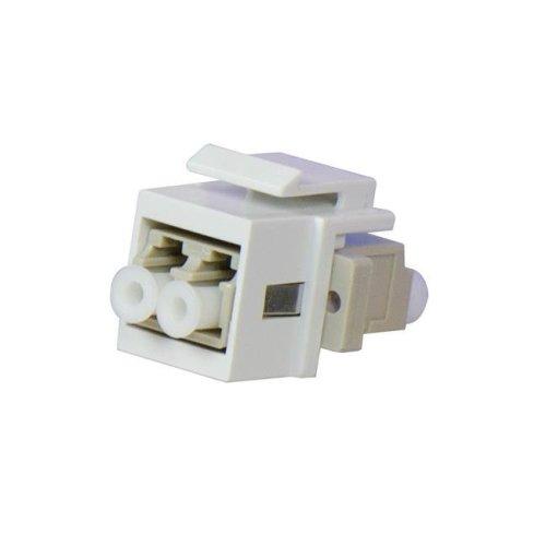 OnQ WP1210WH LC Multimode Fiber Keystone Coupler Insert, White