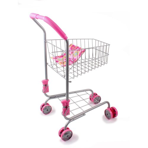 Vinsani Kids' Metal Toy Shopping Trolley | Supermarket Pretend Play Toy