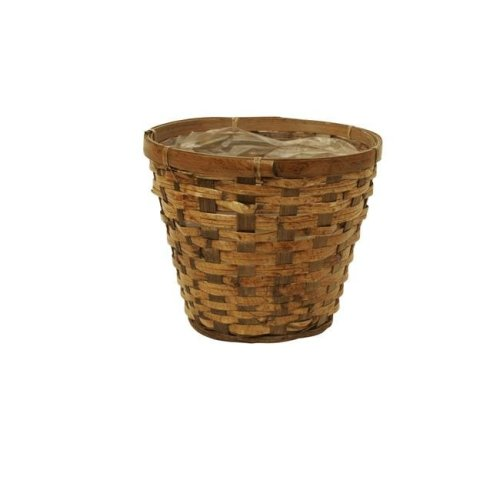 Wald Imports 0025-7 7 in. Rattan Pot Cover  Pack of 3