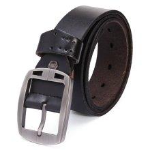 115cm Men's Jeans Pin Buckle Leisure Cowhide Leather Belt