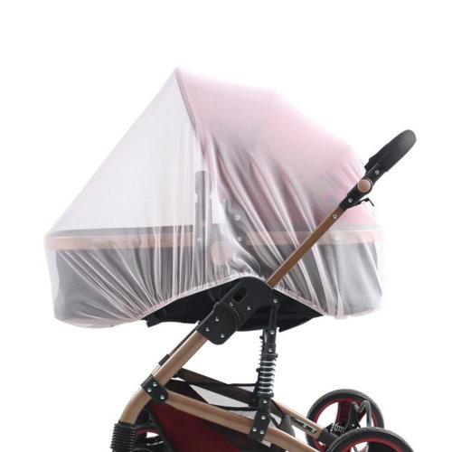 Soft Insect Netting Mosquito Nets for Baby Strollers & Cribs Cover- White