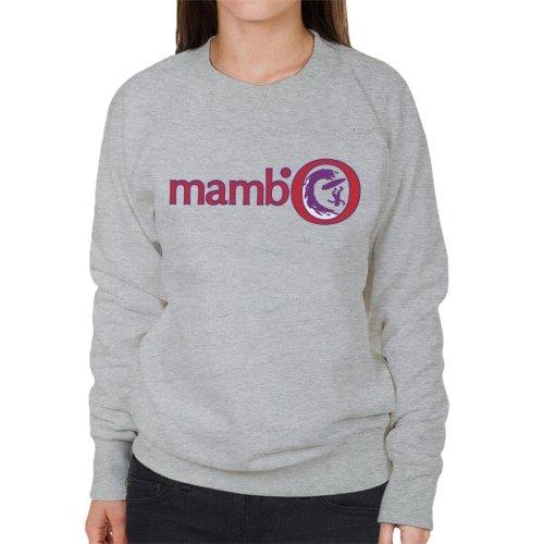 (Small, Heather Grey) Mambo Surfer Wipeout Women's Sweatshirt