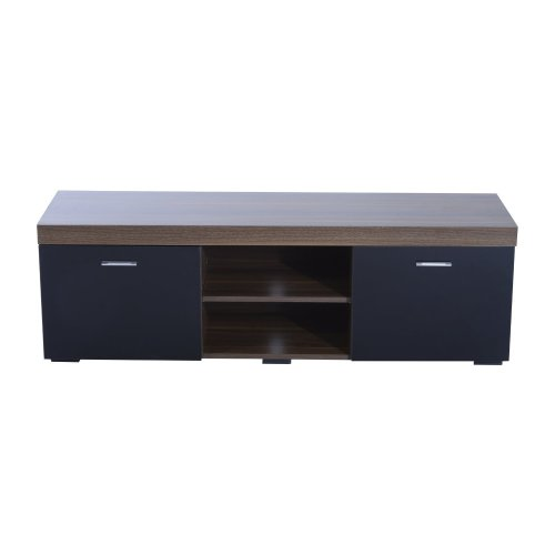 Homcom Tv Stand W/ 1 Door & 2 Shelves Entertainment Center Media Cabinet 140cm