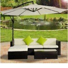 Outsunny Rattan Garden Furniture Corner Sofa Mixed