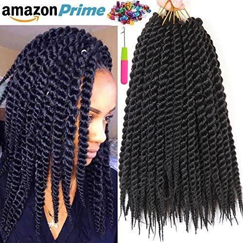 6 Packs 1cm 12 Rootspack 14 Havana Mambo Twist Crochet Braid Hair