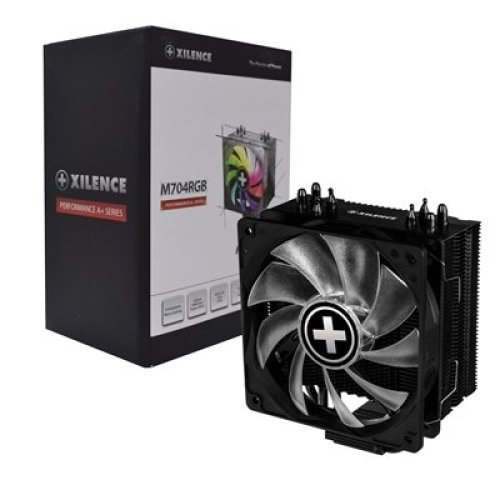 Xilence M704-Rgb Universal Socket Single 120Mm Pwm 1600Rpm Rgb Fan Black Fa XC054