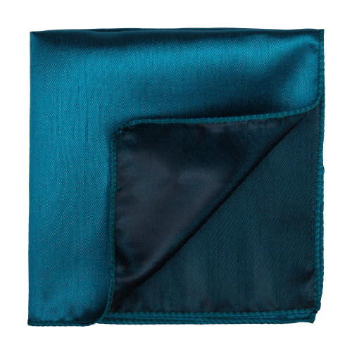 Deep Teal Shantung Pocket Square #AB-TPH1005/14