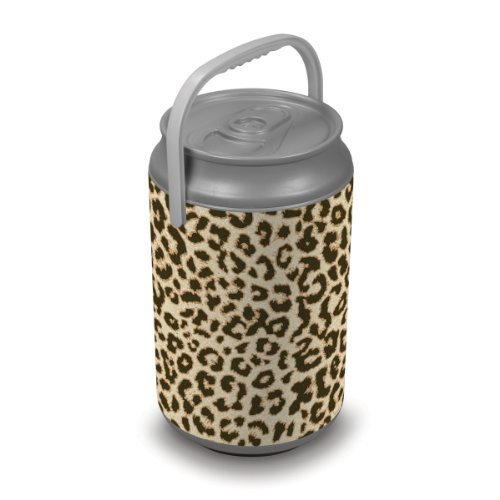 Oniva A Picnic Time Brand Mega Insulated Can Cooler Cheetah Print