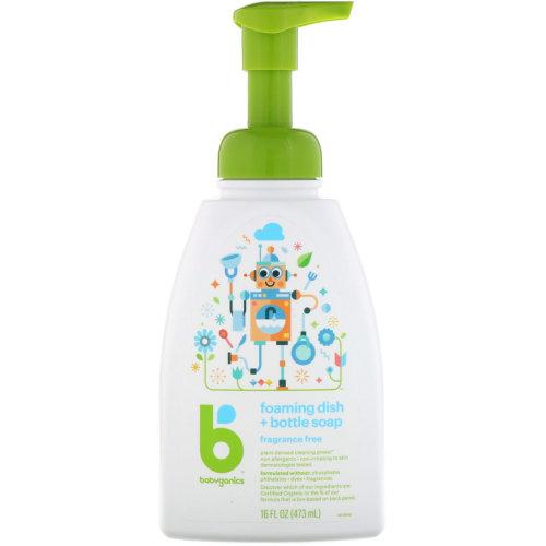 BabyGanics, Foaming Dish + Bottle Soap, Fragrance Free (473 ml)