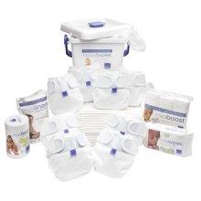 Bambino Mio, Miosoft Reusable Nappy Premium Birth to Potty Pack, White