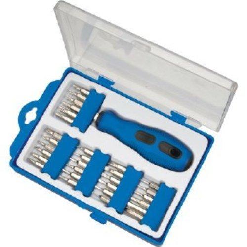 Silverline Precision Screwdriver Bit Set 31pce 31pce -  screwdriver set 31pce precision bit silverline 633956