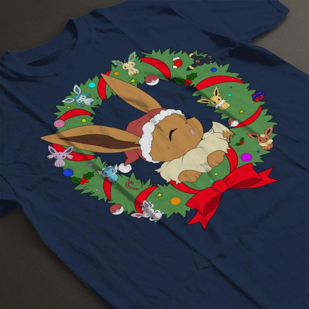 4ca68a0eb Eevee Christmas Wreath Pokemon Men's T-Shirt on OnBuy