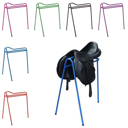"Perry Equestrian Collapsible Saddle Stand/Rack 32"" - Tripod Design - 6 Colours"