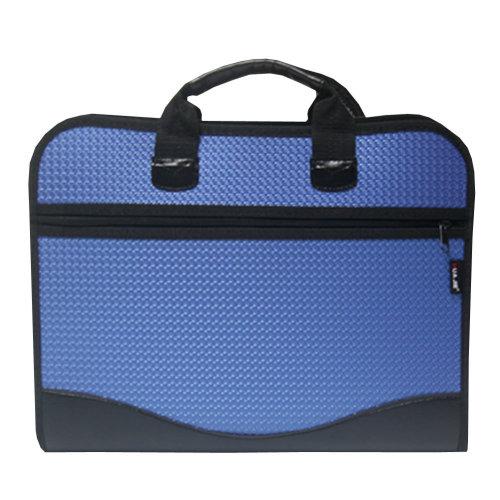 Jacquard versatile Laptop Bag Document Organizer Briefcase (39.5 x 32 X 6cm)BLUE