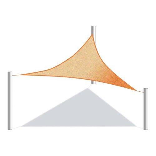Aleko SS03TRI16.5X16.5X16.5YL-UNB 16.5 x 16.5 x 16.5 ft. Triangular Waterproof Sun Shade Sail Canopy Tent, Yellow