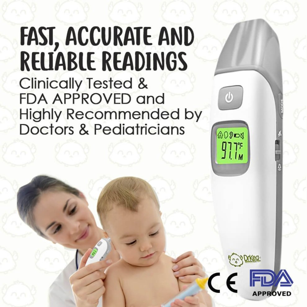 Energetic Baby Ear And Forehead Thermometer Accurate Professional 4 In 1 Digital Medical Infrared Body Fever Thermometers For Baby Care Mother & Kids Baby Care