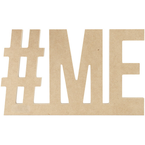 """Beyond The Page MDF #ME Wall Word-8.75""""X5.5"""".5"""""""