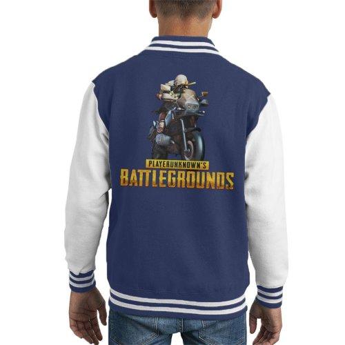 Player Unknown Battlegrounds Motorcycle Kid's Varsity Jacket