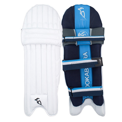 Kookaburra 2019 Rampage 2.0 Cricket Batting Pads Leg Guards White/Blue