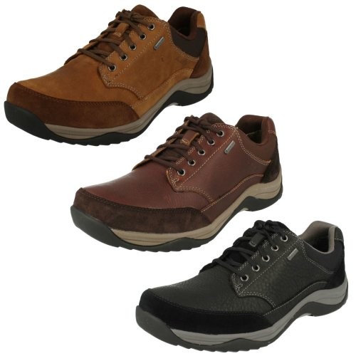 Mens Clarks Casual Gore-Tex Lace Up Shoes Baystonego GTX - G Fit
