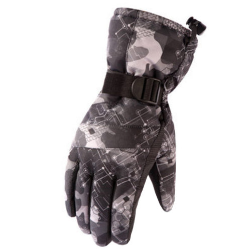 1 Pair Outdoor Winter Cycling Cold-proof Gloves Waterproof Skiing Gloves Warm Gloves,F