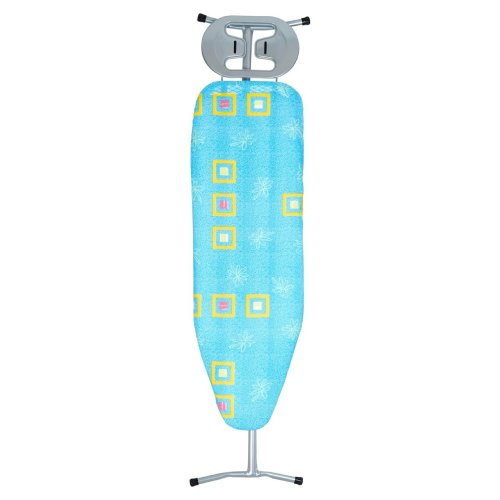 Blue Squares & Flowers Cover Ironing Board