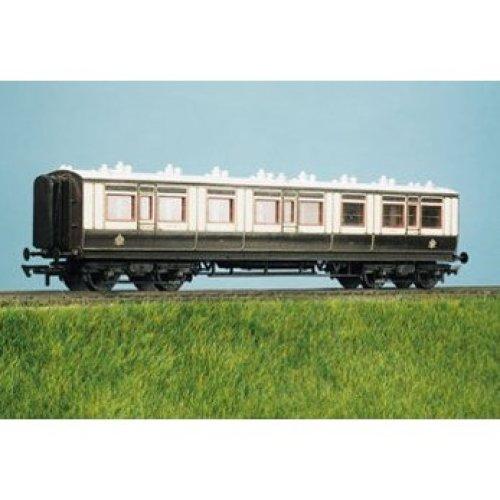 OO coach kit - LMS (ex LNWR) Arc Roof Corridor All 3rd - Ratio 730 free post