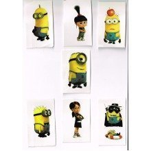 Minions Individually Wrapped Tattoos - Set of 7