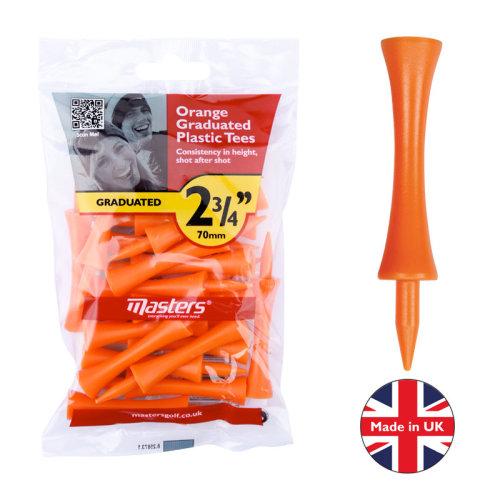 Masters Plastic Graduated Golf Tees 2 3/4'' bag 20 Orange